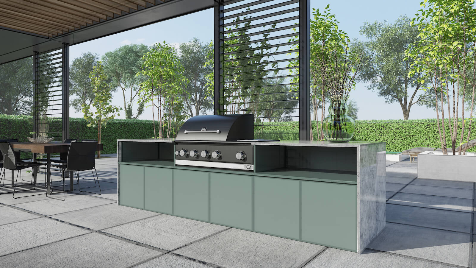 Opstelling COOXS buitenkeuken met Boretti barbecue